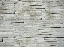 Horizontally structured white brick wall Stock Image