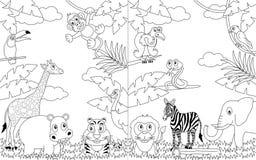 Horizontaux africains de coloration [2] illustration stock