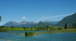 Horizontaux d'Alpes Photo stock