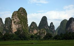 Horizontaux de Guilin Photo libre de droits