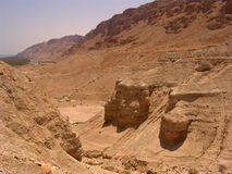 Horizontaux de l'Israël - Qumran Photographie stock libre de droits