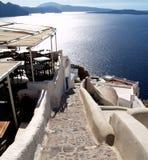 Horizontaux de Santorini Photographie stock libre de droits