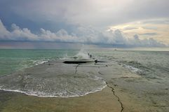Horizontaux de tempête de mer Photographie stock libre de droits