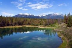 Horizontaux en stationnement national de Banff, Canada Photo stock