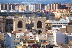 Horizonte aéreo de Valencia del EL Miguelete Foto de archivo libre de regalías
