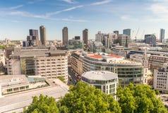 Horizonte aéreo impresionante de Londres, Reino Unido Fotografía de archivo libre de regalías