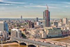 Horizonte aéreo impresionante de Londres, Reino Unido Fotos de archivo libres de regalías