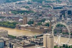 Horizonte aéreo impresionante de Londres, Reino Unido Imágenes de archivo libres de regalías