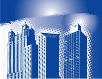 Horizonte abstracto de la ciudad ilustración del vector
