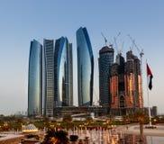 Horizonte Abu Dhabi Fotografía de archivo