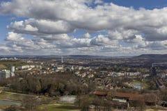 Horizonte Alemania de la ciudad de Stuttgart Imagen de archivo libre de regalías