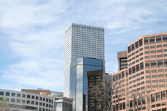 Horizonte arquitectónico de Denver Fotografía de archivo libre de regalías