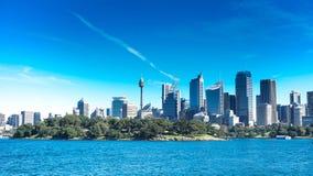Horizonte australiano de la ciudad de Australia Fotos de archivo libres de regalías