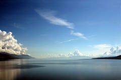 Horizonte azul Foto de archivo libre de regalías