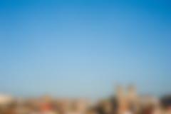 Horizonte borroso de la ciudad Fotografía de archivo libre de regalías