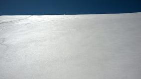 Horizonte branco azul Imagem de Stock