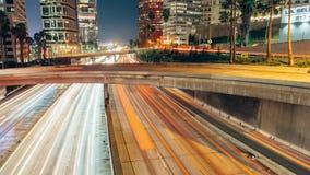 Horizonte brillante de Los Ángeles, California almacen de video