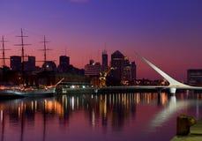 Horizonte, Buenos Aires, la Argentina. Imagen de archivo libre de regalías