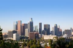 Horizonte céntrico California de Los Ángeles del LA Fotos de archivo libres de regalías