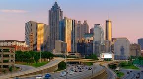 Horizonte céntrico de Atlanta Fotografía de archivo