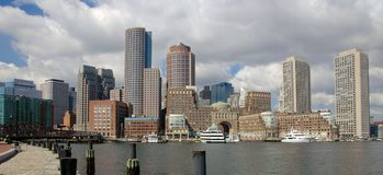 Horizonte céntrico de Boston fotos de archivo libres de regalías