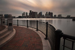 Horizonte céntrico de Boston Fotos de archivo