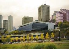 Horizonte céntrico de Edmonton Imagenes de archivo