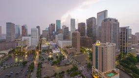 Horizonte céntrico de Houston, Tejas, los E.E.U.U. almacen de metraje de vídeo