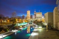 Horizonte céntrico de Indianapolis Fotos de archivo libres de regalías