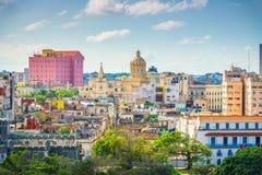 Horizonte céntrico de La Habana, Cuba desde arriba imagen de archivo