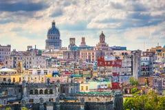 Horizonte céntrico de La Habana, Cuba desde arriba imagenes de archivo