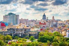Horizonte céntrico de La Habana, Cuba desde arriba fotografía de archivo