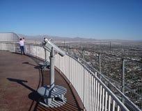 Horizonte céntrico de Las Vegas Imágenes de archivo libres de regalías