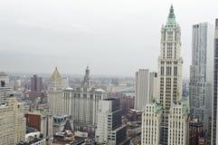 Horizonte céntrico de Manhattan Fotografía de archivo