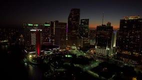 Horizonte céntrico de Miami, la Florida, los E metrajes