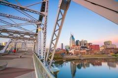 Horizonte céntrico de Nashville, Tennessee Imagen de archivo libre de regalías