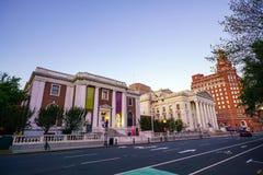 Horizonte céntrico de New Haven en el crepúsculo fotos de archivo libres de regalías