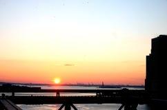 Horizonte céntrico de New York City Imagen de archivo libre de regalías