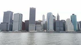 Horizonte céntrico de Nueva York - de Manhattan almacen de metraje de vídeo