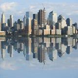 Horizonte céntrico de NYC imagen de archivo libre de regalías