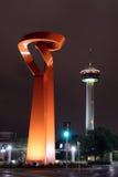 Horizonte céntrico de San Antonio imágenes de archivo libres de regalías