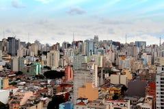 Horizonte céntrico de Sao Paulo Imagenes de archivo