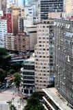 Horizonte céntrico de Sao Paulo Imágenes de archivo libres de regalías
