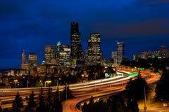 Horizonte céntrico de Seattle Imágenes de archivo libres de regalías