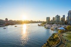 Horizonte céntrico de Vancouver Fotografía de archivo libre de regalías