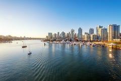 Horizonte céntrico de Vancouver Fotos de archivo libres de regalías
