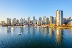 Horizonte céntrico de Vancouver Imagen de archivo