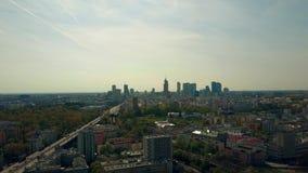 Horizonte céntrico Polonia de Varsovia almacen de metraje de vídeo