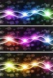 Horizonte cúbico de néon Imagem de Stock Royalty Free