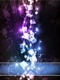 Horizonte cúbico de néon Fotografia de Stock Royalty Free